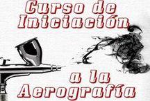 Cursos de Aerografía de Air Custom Paint / Cursos de aerografía en Madrid para varios niveles: iniciación, imitación de texturas (madera, mármol, etc.), restauración de pintura de cascos, body paint, pinstriping, pintura custom, etc.