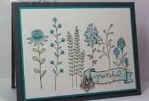 STAMPIN UP Flowering Fields & HERB EXPRESSIONS
