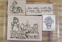 rubber stamp (girl & people)