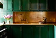 Color Inspiration: Emerald Green and Gold / Opulence and high style design...