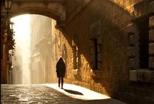 un camino en el sol
