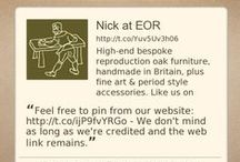 Early Oak Reproductions / A general notice board for Early Oak Reproductions, by the administrator Nick Berry.