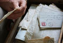 Correspondances / Lettres correspondances et vieux papiers, nostalgie des écritures manuscrites