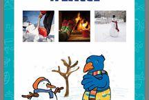 Kleuterplein :winter / Ideeën rondom het seizoen:Aankleding klas en teken- knutselideeën