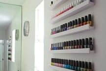 Nail Polish Storage Ideas / Fun, simple ways to store your precious polishes!