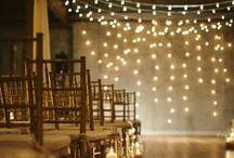 Wedding lights / Beautiful wedding light ideas that create a magical setting!