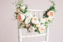 Wedding chair decoration ideas / The mostcreative and beautiful wedding chair decoration ideas. Fabulous ideas with flowers, garlands, Mr & Mrs signs, ribbons.