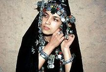 Berber Jewelry / this heavy, ornate jewelry is unique to the berber tribespeople of morocco.  the berber women are the makers of these masterpieces that not only have decorative value but are more importantly, steeped in talismanic power.