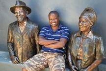 Bronze sculptures - Portrait bust / Portrait bronze busts by Sarah Richards www.sarahrichards.co.za