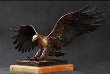 Bronze Sculpture - African Fish Eagle / This sculpture was commissioned for the Nedbank Golf challenge 2006 as gifts for the players and the VIP's. Each sculpture was packaged in a custom made wooden box, for safe transport and professional presentation.