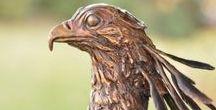 Bronze Sculpture - Secretary Bird, Hunter