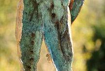 Bronze Sculpture - Analysing Belief / Bronze Sculpture by Sarah Richards, an alternative figure called Analysing Belief. www.sarahrichards.co.za #bronzeart #bronzesouthafrica. Edition 15, 930 x 460 x 580mm (dimensions do not including metal stand)