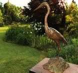 Bronze Sculpture - Purple Heron / 13,8kg, Edition 15, 820 x 430 x 360mm, 2011, www.sarahrichards.co.za