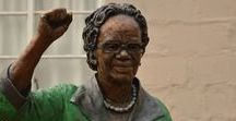 Bronze Sculpture - Bertha Gxowa / Ruth Mompati was an important figure in South Africa's move to freedom and equality for all South Africans, and the fight against apartheid.  For more information on Ruth's History view this site http://www.sahistory.org.za/people/ruth-mompati. www.sarahrichards.co.za