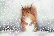 Talvisia kuvisideoita 1.-2.lk