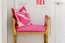 Pink Home Accents / A pop of pink can add feminine fun to any corner of your home / by Calisea