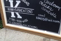 Kerry's Kreations / Eclectic yard signs and accessories