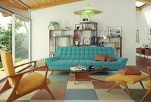 Mid Century Interiors / Home decor from 1950s to 1970s