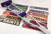 NFL Stickers / Hey sports fans, looking to show off your fandom on your stuff? Take a look at this board that is filled with popular NFL sports teams stickers, plus great ideas on how to decorate your stuff from Crutcheze. #NFL / by Crutcheze