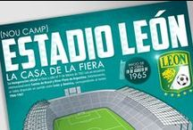 Estadio Leon Infographic Design / Estadio Leon, one of the most historic sporting venues in Mexico, hosted two World Cups in 1970 and 1986, this Infographic was used in the official Club Leon website, social media and print. www.julioaldana.com
