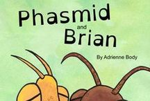 "Activity Ideas for ""Phasmid and Brian"" kids picture book / Stick insect (and other bugs and insects) themed craft and classroom activity ideas that would work well with children's book 'Phasmid and Brian.'"