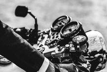 motorcycle & car