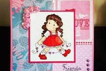 My Tilda / Gloria's handmade card with Tilda stamps from Magnolia