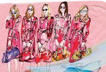 fashion illustrations ByME / Fashion illustrations/Edina Mihalkovics Glamour magazine
