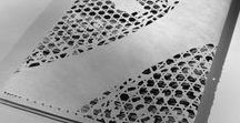 """Ute Wolff- Design, """"traces"""" / """"traces"""", une série d'étuis en Tyvek, réalisé en découpe numérique et inspirée du Québec hivernal"""
