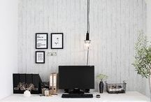 Home Office / office organizing ideas for small spaces and minimal living