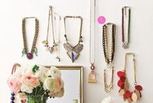 Jewelry / jewelry organizing for those who like open and concealed storage solutions