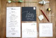 wedding pieces by HELLO calligraphy .Małgosia Małecka. / modern calligraphy pieces