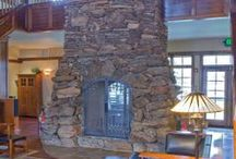 Indoor Fireplaces by Empire Stone Company / Beautiful indoor fireplaces created from natural stone, veneer, river rock or even lava rock!