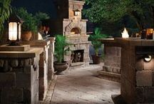 Outdoor Kitchens by Empire Stone Company / Empire Stone Company offers fireplace systems and pizza ovens to trick out any outdoor kitchen.