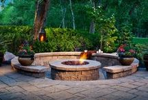 Outdoor Firepits by Empire Stone Company / Cozy up and stay warm or toast some marshmallows with these fantastic outdoor firepits.