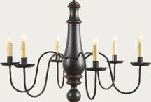 Colonial Lighting / Colonial style lighting and primitive chandeliers.