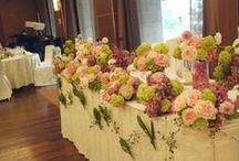 装花 初夏 5月~6月 wedding flower - early summer - May & June / 初夏の会場装花 5月から6月