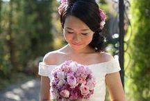 ブーケ ピンク bouquet-pink / ピンク系ブーケの写真集 (キャスケード、セミキャスケード、ラウンド、クラッチ)