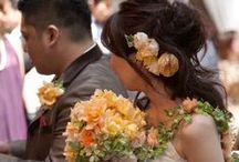 ブーケ オレンジ bouquet-orange / オレンジ色のブーケ写真集 (キャスケード、セミキャスケード、ラウンド、クラッチ)