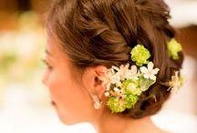 ヘッドドレス head dress / 花嫁の髪飾りの写真集  *「花かんむり、ガールクラウン」「和装」は別のボードに独立しました