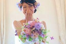 ブーケ 紫 bouquet-purple / 紫のブーケ集(キャスケード、セミキャスケード、ラウンド、クラッチ)