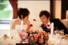 装花 秋 9月~11月 wedding flower - autumn - September to November / 秋の会場装花 9月から11月