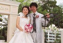 ラウンド 暖色 round bouquet-warm colour / ラウンドブーケ ピンク~オレンジ 暖色系