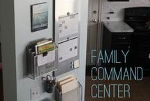 Family Command Center / command and organize your family with everything in one place in your home