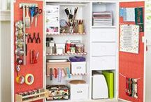 Craft Rooms / it is difficult to be creative in a cluttered space but these solutions will help boost creativity and organization