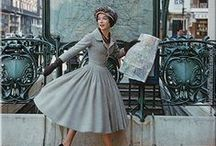 Vintage / Vintage fashion and historical shots - magazine spreads, candid shots, film stills and inspirational women.