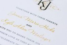 """Traditional Stationery / This Traditional style celebrates beauty and time-honored grace. It's a lovely, straightforward invitation that is for the bride who may enjoy stunning monograms, classic fonts, and understated elegance. This style says, """"Less is more,"""" and it will reflect your wedding in a cherished, beautiful way."""