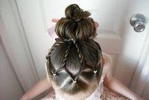 Meet hair / Ideas for gymnastics meet hair (messy meet hair is a pet peeve of mine).