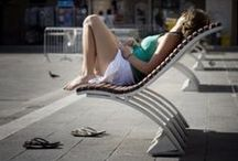 Urban Furnitures: Βenches & More _ LA / Street furniture integrated into the urban environment that cover the need for resting.