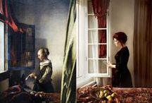 Groep 8 levende foto van schilderij / Nadoen van beroemde schilderijen en daar een foto van maken.